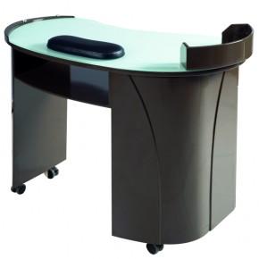 """""""ELLAND"""" Manicure Table - Black Lacquer"""