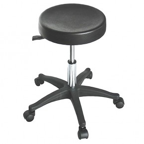 """ROCKY""  Salon Stool with Plastic Base"