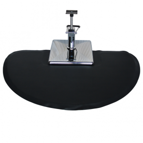 Round Salon Floor Mat for Square Base