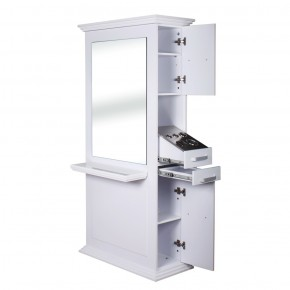 """""""SIENA"""" Double Sided Salon Station in White"""