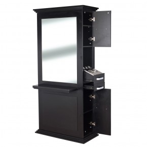 """SIENA"" Single Sided Salon Station in Black"