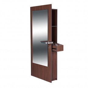 """BURANO"" Single Sided Styling Station in Dark Walnut"